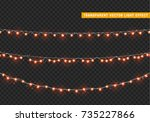 christmas lights isolated... | Shutterstock .eps vector #735227866