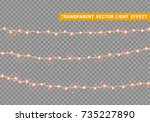 christmas lights isolated... | Shutterstock .eps vector #735227890