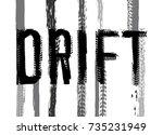 off road hand drawn grunge...   Shutterstock .eps vector #735231949