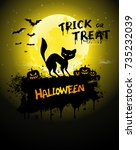 halloween poster  night... | Shutterstock .eps vector #735232039