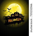 halloween poster  night... | Shutterstock .eps vector #735232066