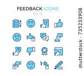Feedback Icons. Vector Line...