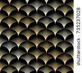 golden seamless pattern in art...   Shutterstock .eps vector #735237028