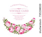 luxurious vintage card of color ... | Shutterstock .eps vector #735238033