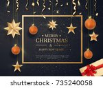 merry christmas and happy new...   Shutterstock .eps vector #735240058