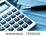 financial charts and graphs on... | Shutterstock . vector #73524163