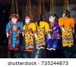 myanmar   july 17  traditional... | Shutterstock . vector #735244873