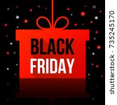 black friday sale  abstract... | Shutterstock .eps vector #735245170