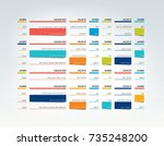 table  schedule  tab  planner ... | Shutterstock .eps vector #735248200