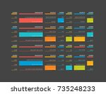table  schedule  tab  planner ... | Shutterstock .eps vector #735248233