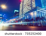 urban traffic in downtown... | Shutterstock . vector #735252400