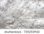 silver abstract acrylic hand... | Shutterstock . vector #735253933