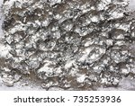 silver abstract acrylic hand... | Shutterstock . vector #735253936