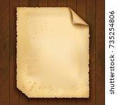 vintage paper on wooden... | Shutterstock .eps vector #735254806
