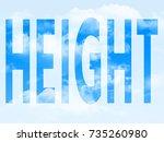 height in the symbol | Shutterstock . vector #735260980