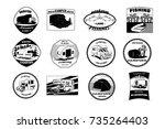 vector illustration of set... | Shutterstock .eps vector #735264403