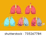 cute lungs vector characters | Shutterstock .eps vector #735267784