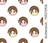 seamless pattern with glazed...   Shutterstock .eps vector #735272926
