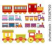 game gift kids train vector... | Shutterstock .eps vector #735287920