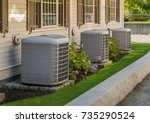 heating and air conditioning... | Shutterstock . vector #735290524