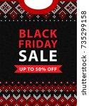 black friday sale inscription... | Shutterstock .eps vector #735299158