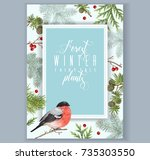 vector vintage banner with... | Shutterstock .eps vector #735303550