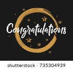 congratulations   vintage... | Shutterstock .eps vector #735304939