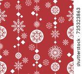 pattern seamless snowflake for... | Shutterstock .eps vector #735323863