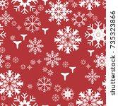 pattern seamless snowflake for... | Shutterstock .eps vector #735323866
