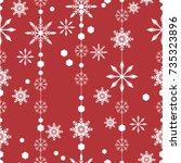 pattern seamless snowflake for... | Shutterstock .eps vector #735323896