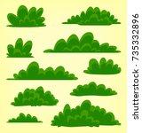 vector abstract cartoon doodle... | Shutterstock .eps vector #735332896