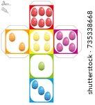 easter egg dice template   do... | Shutterstock .eps vector #735338668