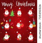 little happy santa claus...   Shutterstock .eps vector #735350326