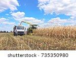 mikhailovka  ukraine   august... | Shutterstock . vector #735350980