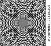 optical illusion abstract... | Shutterstock .eps vector #735351808
