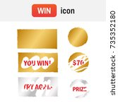 scratch card win. scratch card... | Shutterstock .eps vector #735352180