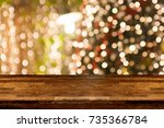christmas holiday background... | Shutterstock . vector #735366784