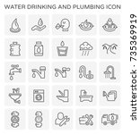 vector line icon of water... | Shutterstock .eps vector #735369919