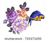 Stock photo on behalf of riches and honor of flowers the leaves and flowers art design 735371050