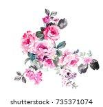 Stock photo elegant flowers the leaves and flowers art design 735371074