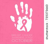 breast cancer awareness month   ... | Shutterstock .eps vector #735373660