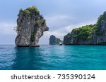 beautiful seaview of koh ha  ... | Shutterstock . vector #735390124