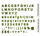 grass font 3d rendering | Shutterstock . vector #735390340
