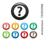 question mark sign icons set.... | Shutterstock .eps vector #735393988