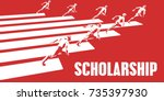 scholarship with business... | Shutterstock . vector #735397930