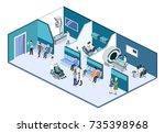 isometric 3d vector... | Shutterstock .eps vector #735398968