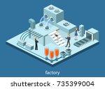 isometric 3d vector... | Shutterstock .eps vector #735399004