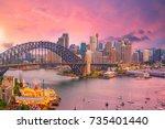 downtown sydney skyline in... | Shutterstock . vector #735401440