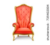 luxurious antiquarian red... | Shutterstock .eps vector #735402004
