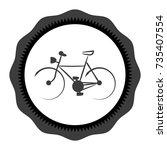 bike icon stock  illustration...   Shutterstock . vector #735407554
